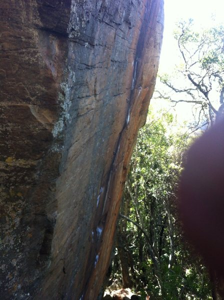 Rock Climbing Photo: Rubiks Cube Boulder from just up the scramble down...