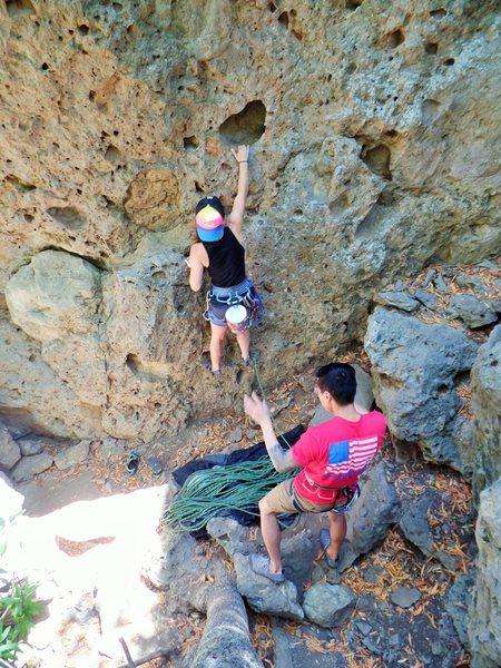 Rock Climbing Photo: Climb on Chelsea!