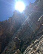 Rock Climbing Photo: Derek starting up P2.