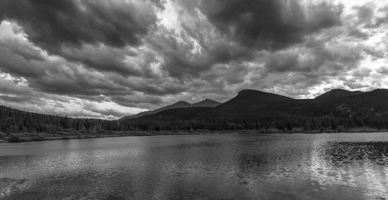 The view of Long's Peak from Lily Lake. What a gorgeous setting.