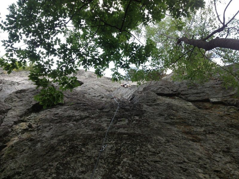 "Rock Climbing Photo: Alex cruising up ""Almost Rectum"" at Beav..."
