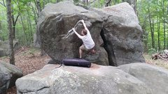 Rock Climbing Photo: Start of Man Handle after first move
