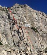 Rock Climbing Photo: Ya fuggin Jibroni! (Pitch lengths are approx rope ...