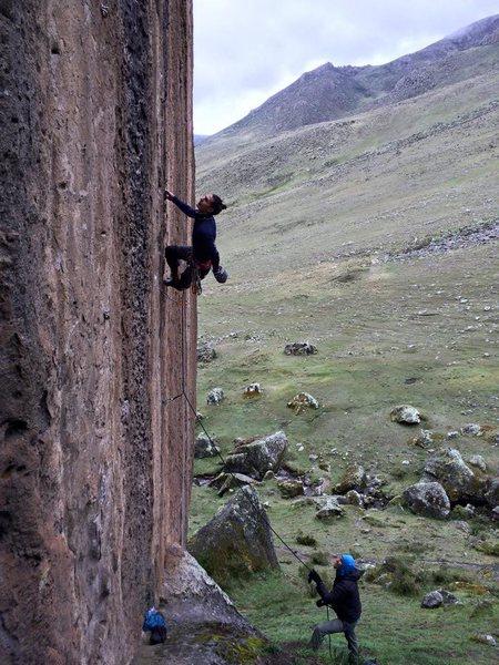 Climber somewhere in Hatun