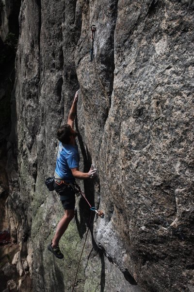 The crux moves.