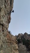 Rock Climbing Photo: Scott Stevenson on lead.