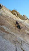 Rock Climbing Photo: Bolt spacing. These bolts weren't originally a...