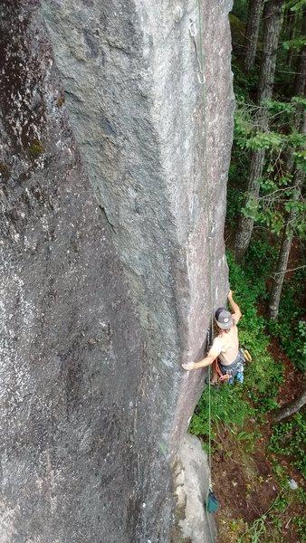 Rock Climbing Photo: Wizard walks by