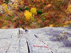 Rock Climbing Photo: Alex cruising up the final pitch of The El.  Fanta...