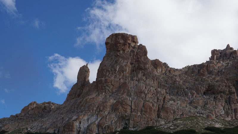 Rock Climbing Photo: From here you can see the top of P4 with P5 being ...