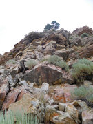 Rock Climbing Photo: Pitch 1 and showing the start of the route. Note t...