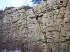 "Rock Climbing Photo: The first ascent of ""Sketchy Bob"". Undou..."