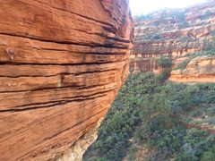 Rock Climbing Photo: Cool hangboard-type features on the bolted section...