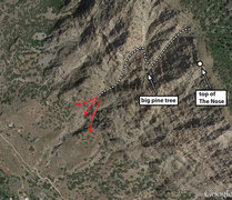 Rock Climbing Photo: Descent location beta for the northern/gully desce...