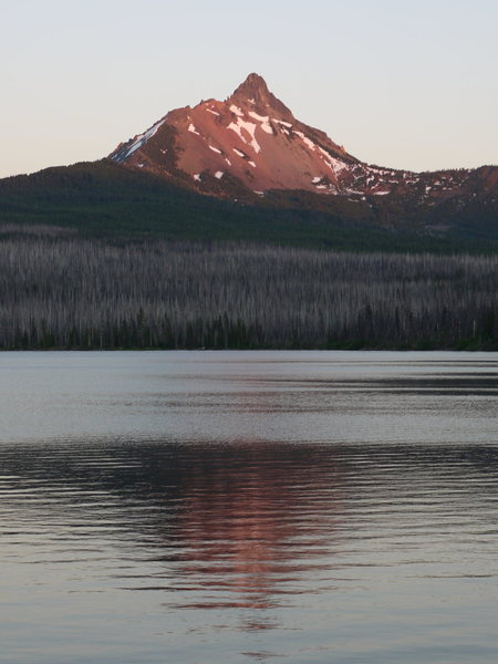 Mt WA, as seen from Big Lake. North ridge on left.