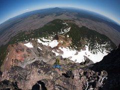 Rock Climbing Photo: scrambling the North Ridge