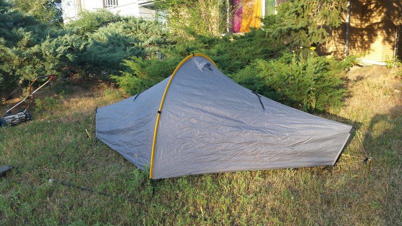 Rock Climbing Photo: Tarp Tent Moment