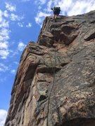 Rock Climbing Photo: Using the shaking hands to rap down