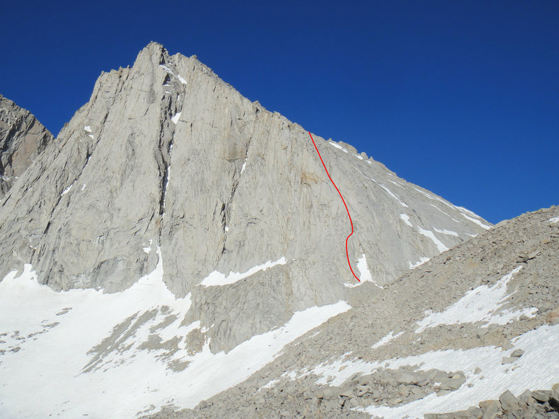 Rock Climbing Photo: The Northeast Arete. The route continues up the ri...