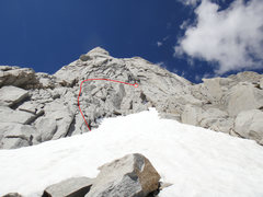 Rock Climbing Photo: The start of the route. Follow the path of least r...