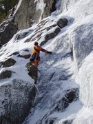 """Rock Climbing Photo: A """"pre-guidebook"""" Jeremy Haas starts up ..."""
