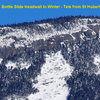 """Bottle Slide Headwall in Winter - If I remember correctly, """"Bottleneck"""" is a bit right of the apex of the slide.<br>  Looks like """"lota""""-climbing here!"""