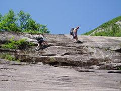 "Rock Climbing Photo: Approach Photo#3 - Reaching the ""First Step&q..."