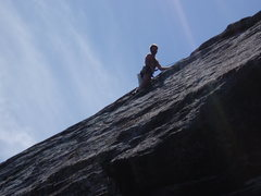"Rock Climbing Photo: Ed further up the ""Direct"" (That's n..."