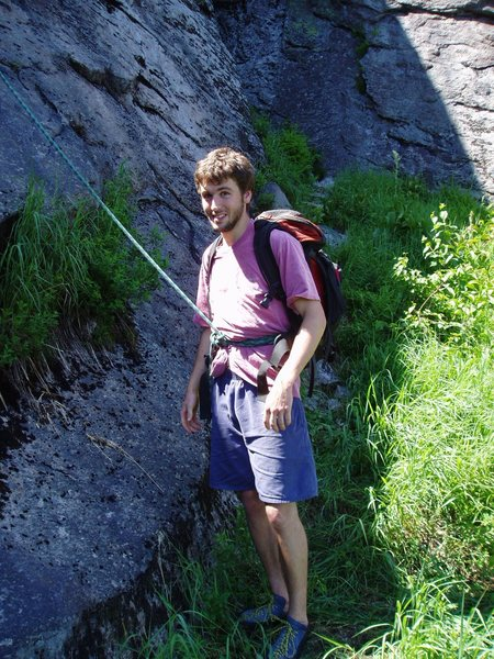 Rock Climbing Photo: Mark - I think starting the Variation (Yes, that&#...