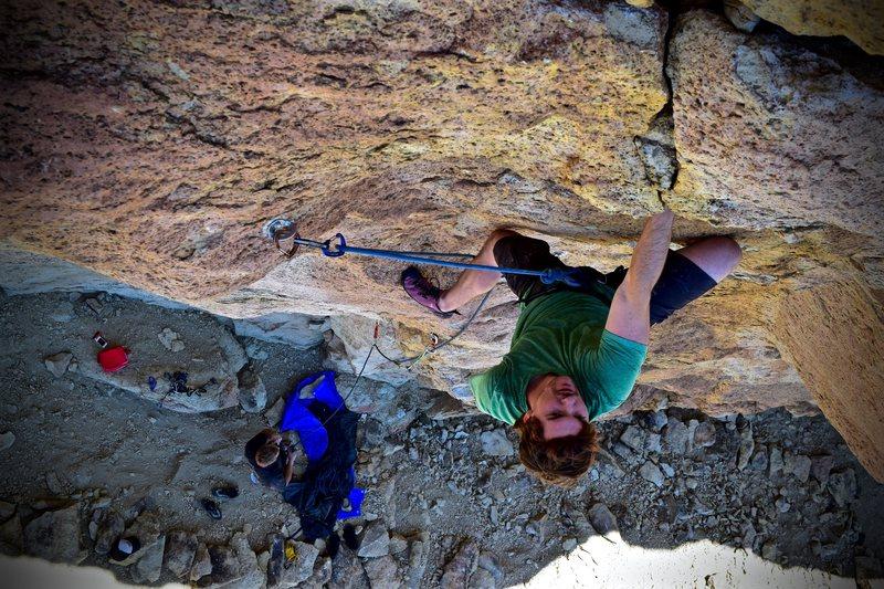 Rock Climbing Photo: Scott E. working up the steep buckets