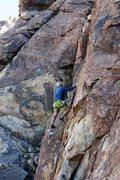 Rock Climbing Photo: Pete climbing, High Desert