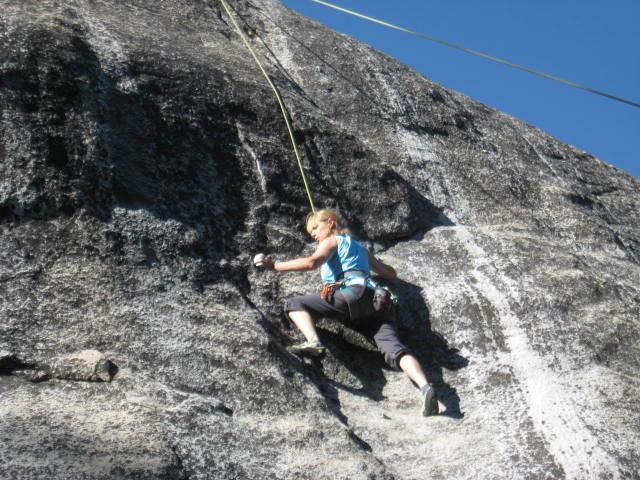 Pulling down on Southern Sierra granite.