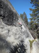 Rock Climbing Photo: Sandy showing her footwork on Zyzzyx.