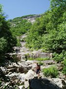 Rock Climbing Photo: Approach Photo#2 - The Rocky, dry stream bed