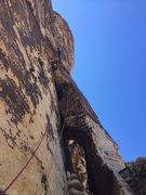 Rock Climbing Photo: Randon Kruse above the elephants trunk