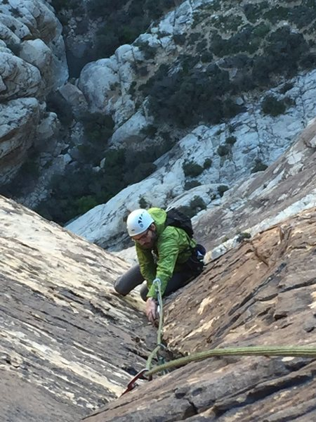 Rock Climbing Photo: Unkown climber (from Seattle) high on Epinephrine.