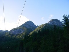 Rock Climbing Photo: Lone Wolf & Silky Slab on the left. Amon Rudh on t...