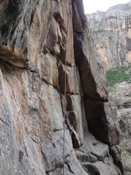 Rock Climbing Photo: Gives a feel for the middle pitches.  Photo: Rober...