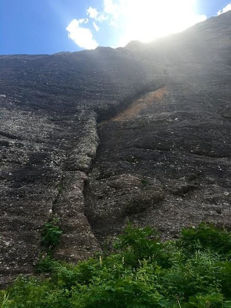 Rock Climbing Photo: Darwin's Rib, Falls Walls, Telluride.