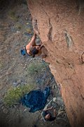Rock Climbing Photo: The lower crux on the Alchemist. Photo of First As...