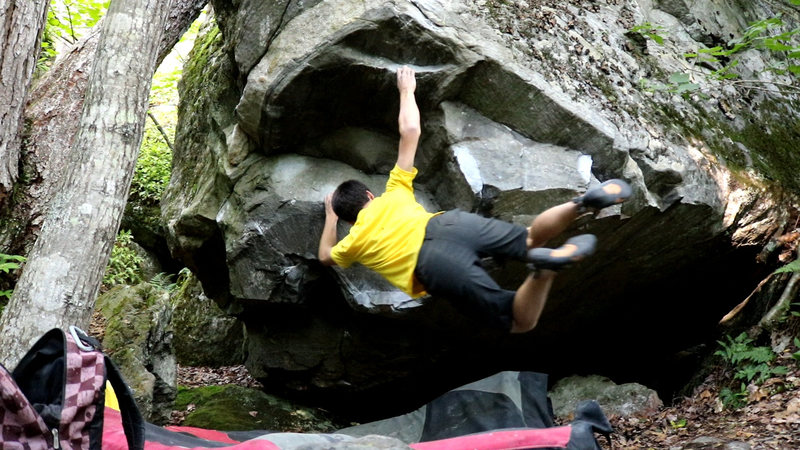 Rock Climbing Photo: When you don't use the left hand jug and dyno....