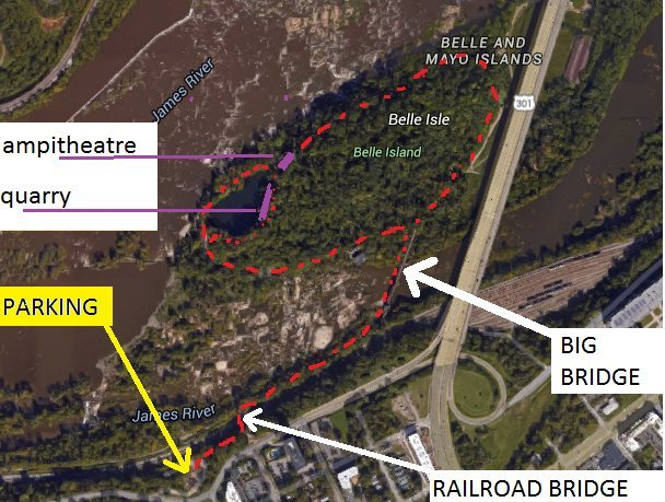 a spot to park, and trail map