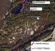 Rock Climbing Photo: close up trail map