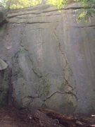 Rock Climbing Photo: the flake area. just right of the big broken corne...