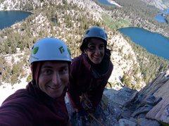 Rock Climbing Photo: First day of multipitch - Crystal Crag near Mammot...