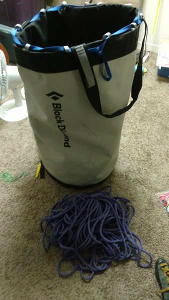 Rock Climbing Photo: Haul bag and line.
