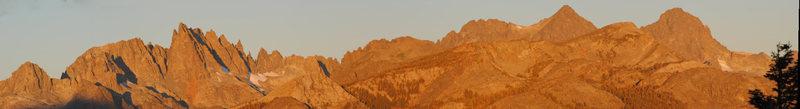 Sunrise panoramic shot