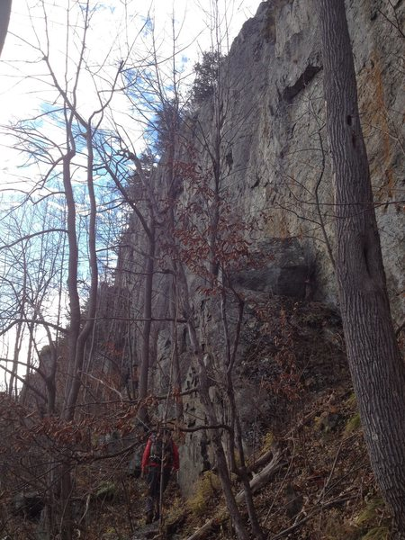 Approaching the steep walls of Beaver Brook, Wilmington, ADK.