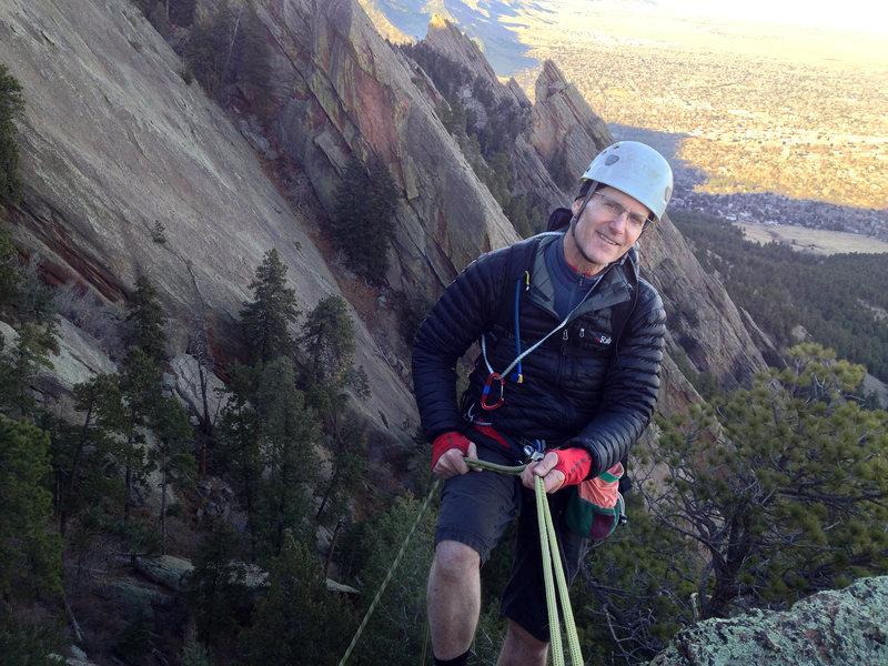 Rock Climbing Photo: rap off the 5th Flatiron