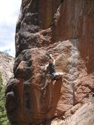 Rock Climbing Photo: A few hard moves lead to huge jugs.